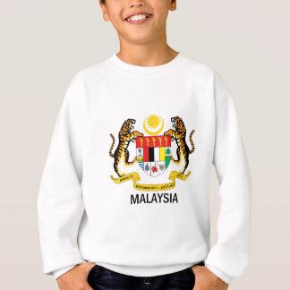 マレーシア-紋章か旗または記号または紋章付き外衣 スウェットシャツ