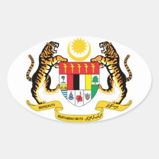 マレーシア-紋章か旗または記号または紋章付き外衣 楕円形シール