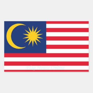 マレーシア-高品質な旗のステッカー 長方形シール