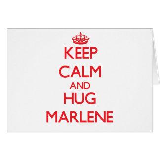 マレーネ穏やか、抱擁保って下さい カード