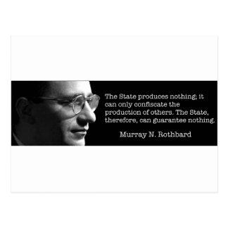 マレーRothbard ポストカード