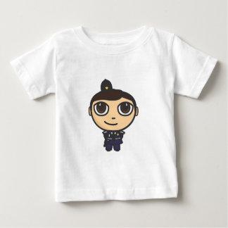 マンガのキャラクタの警官ベビーのTシャツ ベビーTシャツ