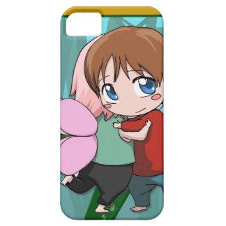 マンガの妖精、キスをするなカップル iPhone SE/5/5s ケース