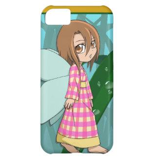 マンガの妖精、ギンガムの妖精の女の子 iPhone5Cケース