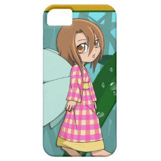 マンガの妖精、ギンガムの妖精の女の子 iPhone SE/5/5s ケース