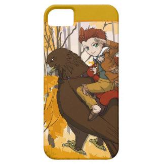 マンガの妖精、乗車を繋いでいる男の子の妖精 iPhone SE/5/5s ケース