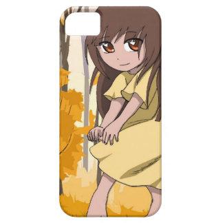 マンガの妖精、森林の内気な女の子 iPhone SE/5/5s ケース