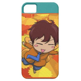 マンガの妖精、Kokeshiの男の子のフライヤ iPhone SE/5/5s ケース
