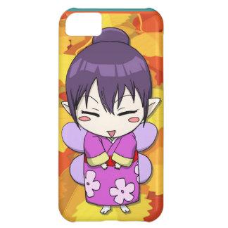 マンガの妖精、Kokeshiの芸者女の子 iPhone5Cケース