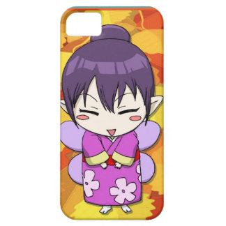 マンガの妖精、Kokeshiの芸者女の子 iPhone SE/5/5s ケース