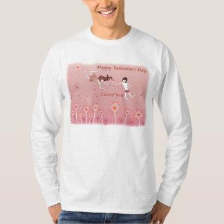マンガのcompridaのmasculinaのハッピーバレンタインデー tシャツ