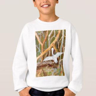 マングローブの白鷺第3 スウェットシャツ