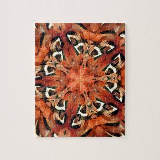 マンゴのキジの羽の万華鏡のように千変万化するパターンの曼荼羅 ジグソーパズル