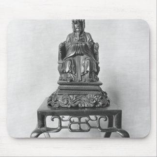 マンダリンとして孔子、Qingの小像 マウスパッド