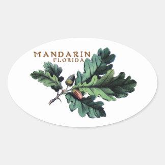 マンダリンのステッカー 楕円形シール