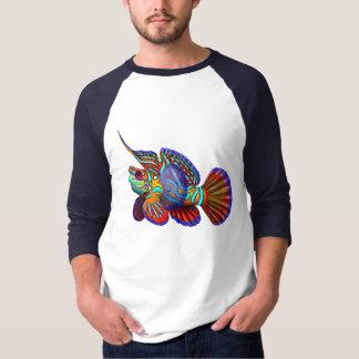 マンダリンのハゼのDragonetの魚ジャージー Tシャツ