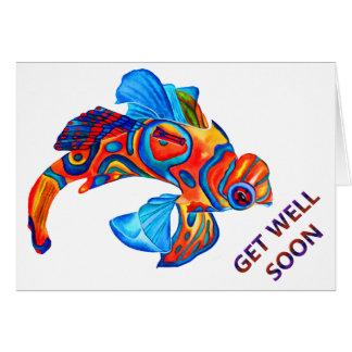 マンダリンの魚のデザインのバースデー・カード カード