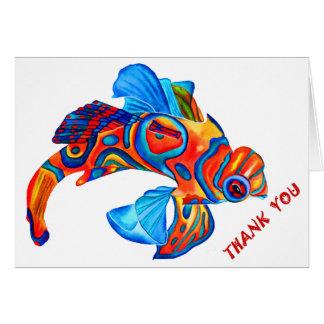"""マンダリンの魚のデザインは""""""""カード感謝していしています カード"""