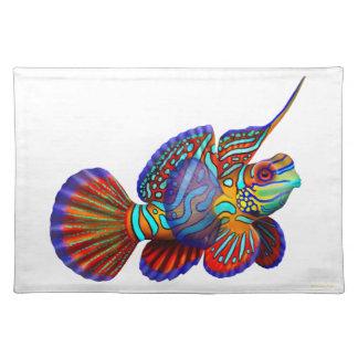 マンダリンのDragonetのハゼの魚のランチョンマット ランチョンマット