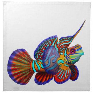 マンダリンのDragonetのハゼ礁の魚のナプキン ナプキンクロス