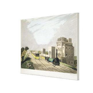マンチェスターおよびリヴァプールの鉄道、取得の眺め キャンバスプリント