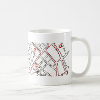 マンチェスターの中央地図 コーヒーマグカップ