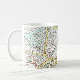 マンチェスターの地図 コーヒーマグカップ