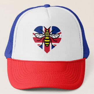 マンチェスター蜂および英国国旗のハートの団結 キャップ