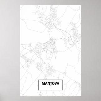 マントバ、イタリア(白の黒) ポスター
