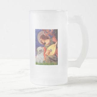 マンドリンの天使- (p)シーズー(犬) Tzu フロストグラスビールジョッキ