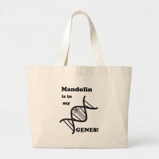 マンドリンは私の遺伝子にあります ラージトートバッグ