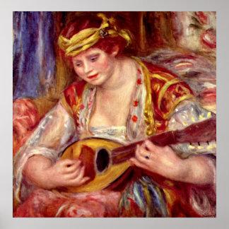 マンドリンを持つ女性 ポスター