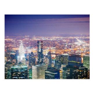マンハッタンの夜 ポストカード