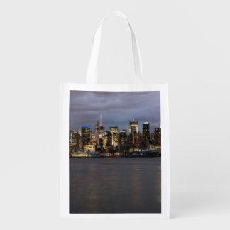 マンハッタンの早い夕べの全景 エコバッグ