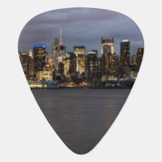マンハッタンの早い夕べの全景 ギターピック