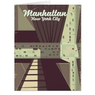 マンハッタンニューヨークシティ旅行ポスター カード