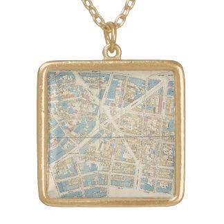 マンハッタン地図 ゴールドプレートネックレス