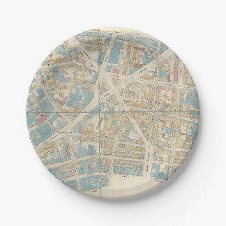 マンハッタン地図 ペーパープレート
