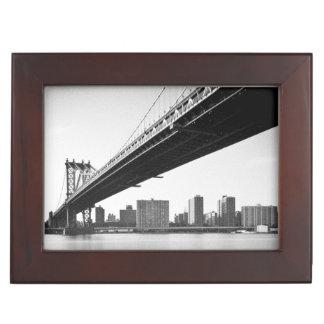 マンハッタン橋およびスカイライン、ニューヨーク、米国 ジュエリーボックス