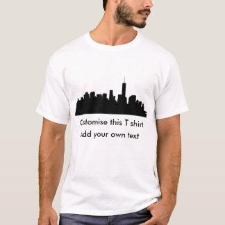 マンハッタン都心のシルエット Tシャツ