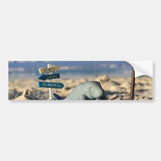 マンフレッドビーチのマナティー バンパーステッカー