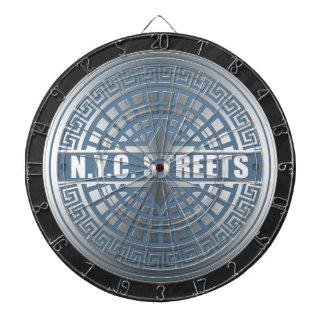 マンホールの蓋NYC ダーツボード
