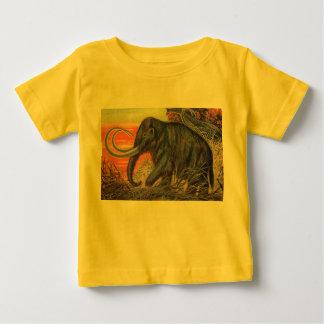 マンモスの旧式なプリント ベビーTシャツ