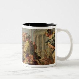 マーカスFurius CamillusおよびBrennus ツートーンマグカップ