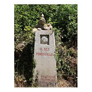 マーカー103キロメートル、El Camino、スペイン ポストカード