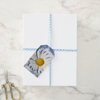 マーガレットの花だけ + あなたの文字及びアイディア ギフトタグ