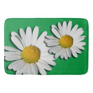 マーガレットの花だけ + あなたの背景及びアイディア バスマット
