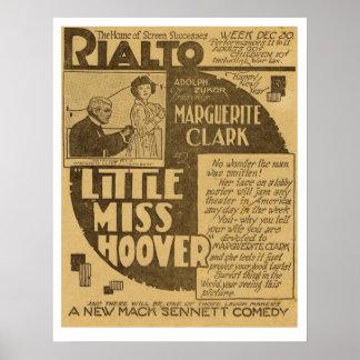 マーガレットクラーク少し失敗フーバーの新聞広告 ポスター