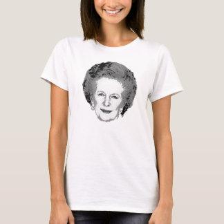 マーガレット・サッチャーのカスタマイズ可能で黒く及び白いワイシャツ Tシャツ