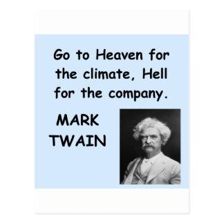 マーク・トウェインの引用文 ポストカード